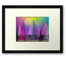Abstract Elevation Framed Print
