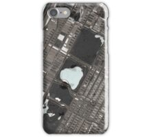Abstract Map of Central Park, NYC iPhone Case/Skin