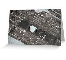 Abstract Map of Central Park, NYC Greeting Card