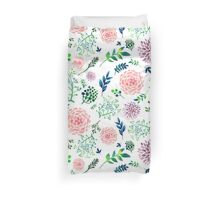 Hand Painted Spring Flourishes Flowers Pattern Duvet Cover