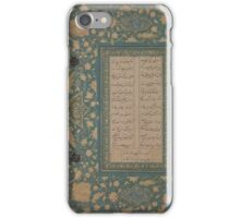 Calligraphy, Folio from a non-illustrated manuscript  iPhone Case/Skin