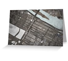 Abstract Map of the Upper East Side, NYC Greeting Card