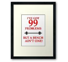99 PROBLEMS Framed Print