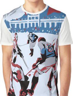 Retro style Ice hockey red white blue Graphic T-Shirt