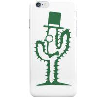 sir mr gentleman monokel cylindrical hat glasses fly man cactus funny iPhone Case/Skin