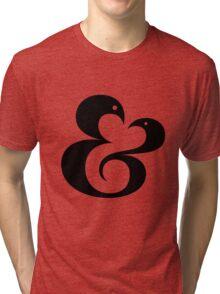 Ampersand (01 - Black on White) Tri-blend T-Shirt