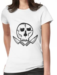 Skull & Knives Womens Fitted T-Shirt