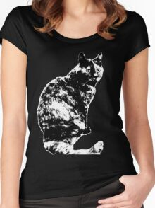 Small Cat Women's Fitted Scoop T-Shirt