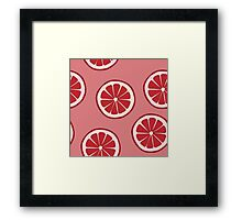 Pattern with grapefruit  Framed Print