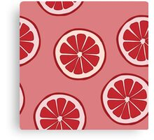 Pattern with grapefruit  Canvas Print