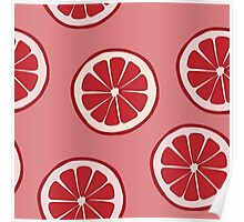 Pattern with grapefruit  Poster