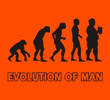 Evolution man  Kids Tee