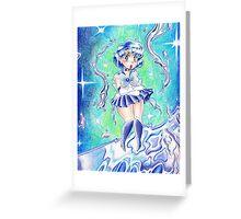 Sailor Mercury Colored Pencil Greeting Card