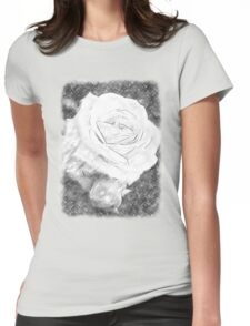 Pink Roses in Anzures 2 Charcoal Womens Fitted T-Shirt
