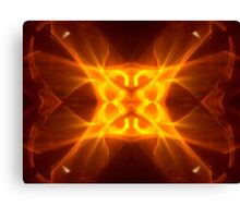 Red Hot Kaleidoscope Flame Canvas Print