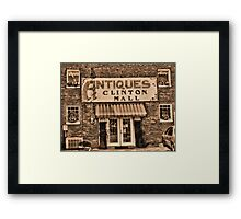 """Antiques, Clinton Mall,  #3""... prints and products Framed Print"