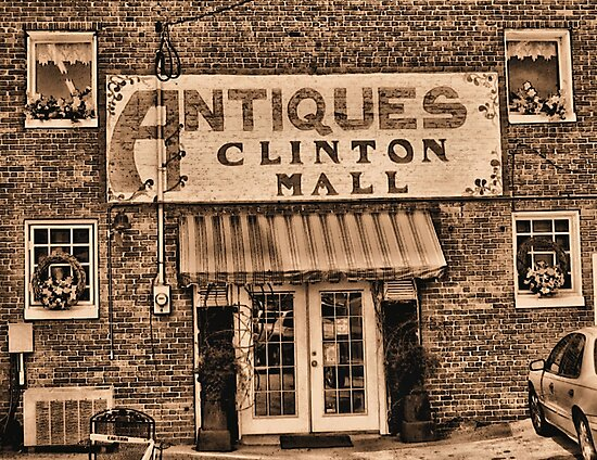 """""""Antiques, Clinton Mall,  #3""""... prints and products by © Bob Hall"""