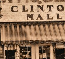 """""""Antiques, Clinton Mall,  #3""""... prints and products Sticker"""