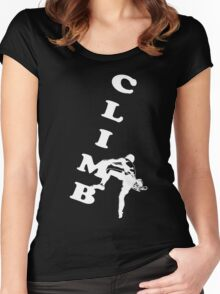 Rock Climbing white Women's Fitted Scoop T-Shirt