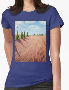 Cypress Trees Womens Fitted T-Shirt