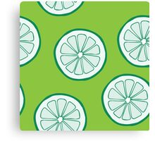 Pattern with limes Canvas Print