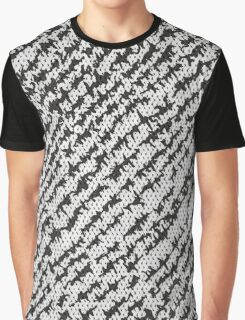 Modern White Black Popular Trendy Abstract Pattern Graphic T-Shirt