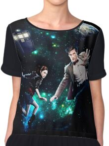 Amy and The Doctor in Space Chiffon Top