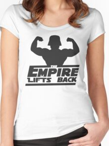 Star Wars - The Empire Lifts Back Women's Fitted Scoop T-Shirt