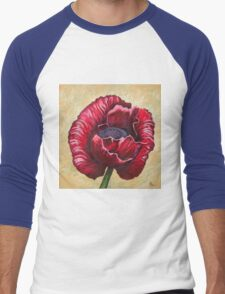 Poppy Men's Baseball ¾ T-Shirt