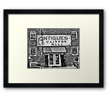 """Antiques, Clinton Mall, #2""... prints and products Framed Print"