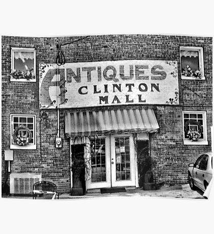 """Antiques, Clinton Mall, #2""... prints and products Poster"
