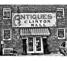 """Antiques, Clinton Mall, #2""... prints and products Photographic Print"