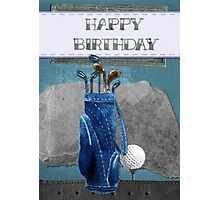 Golfing birthday card Photographic Print
