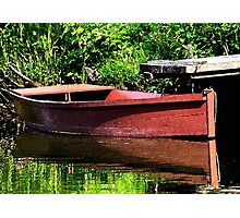 Row Boat At The Pier Photographic Print
