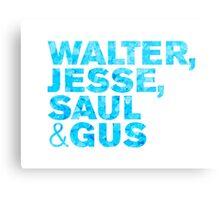 Breaking Bad / Walter, Jesse, Saul & Gus Metal Print