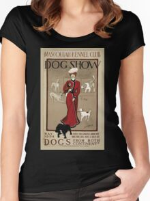 Artist Posters Mascoutah Kennel Club dog show Dogs from both continents Geo Ford Morris 01 0296 Women's Fitted Scoop T-Shirt