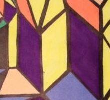 block abstract 1 Sticker