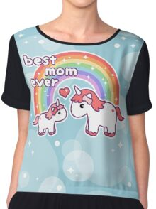 Cute Unicorn Mom Chiffon Top
