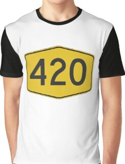 420 Road Sign Graphic T-Shirt
