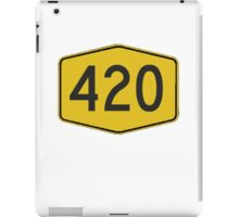 420 Road Sign iPad Case/Skin