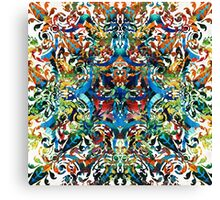 Bold Pattern Art - Color Fusion Design 8 By Sharon Cummings Canvas Print