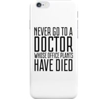 Doctor Office Humour Funny Random Hospotal Joke iPhone Case/Skin