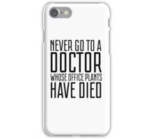 Doctor Office Humour Funny Random Hospotal Joke iPhone Case/Skin