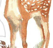 Floral Fawn Woodland Animal Sticker