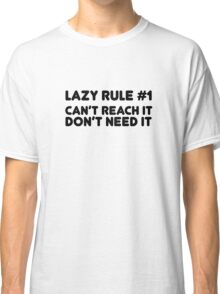 Lazy Humour Funny Joke Comedy Weed Stoner Cool  Classic T-Shirt