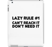 Lazy Humour Funny Joke Comedy Weed Stoner Cool  iPad Case/Skin