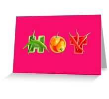 hot chilli peppers  Greeting Card