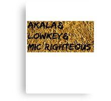 Akala & Lowkey & Mic Righteous UK music (T-shirt, Phone Case & more) Canvas Print