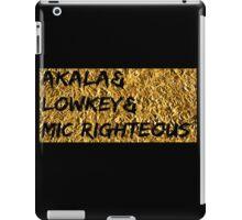 Akala & Lowkey & Mic Righteous UK music (T-shirt, Phone Case & more) iPad Case/Skin