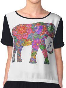 Psychedelic Elephant Chiffon Top